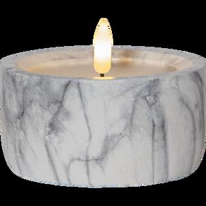Bilde av Flamme marble kubbelys 10x7,5
